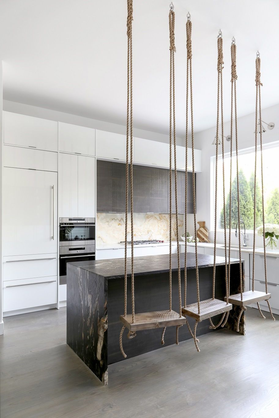 Photo of N.J. home makeover: Swings in the kitchen? This $250K Jersey City update brings the fun