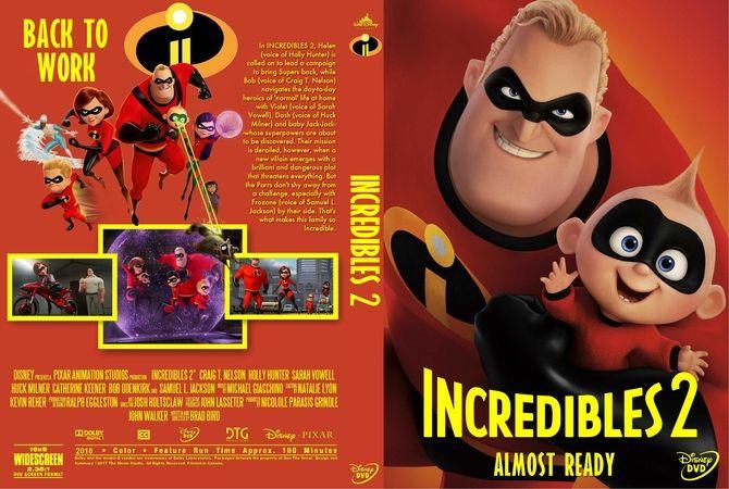 Incredibles 2 2018 DVD Custom Cover