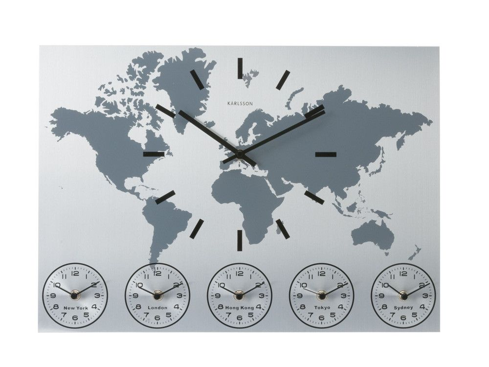 Modern world map wall clock home decor pinterest clocks modern world map wall clock gumiabroncs Choice Image