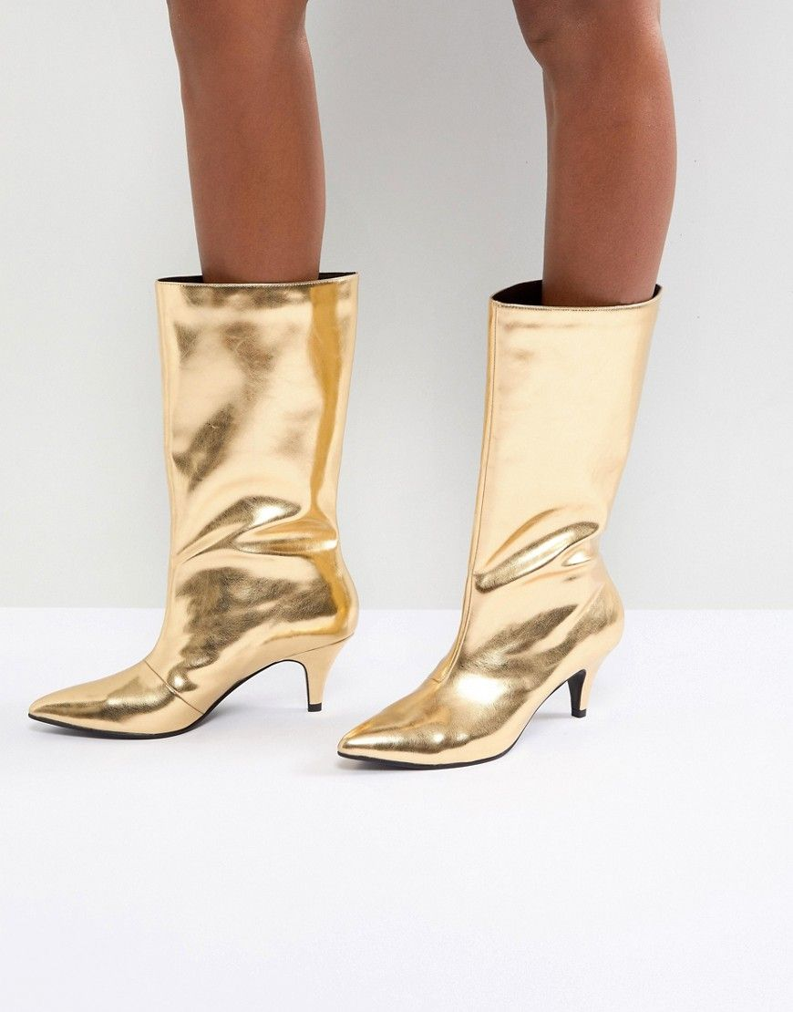 a085ce95cee8 ASOS X MARY BENSON Knee Boots - Gold
