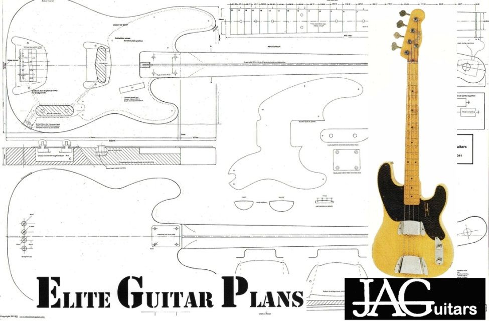 Bass Guitar Plans - John Anthony Guitars & Elite Guitar Plans ...