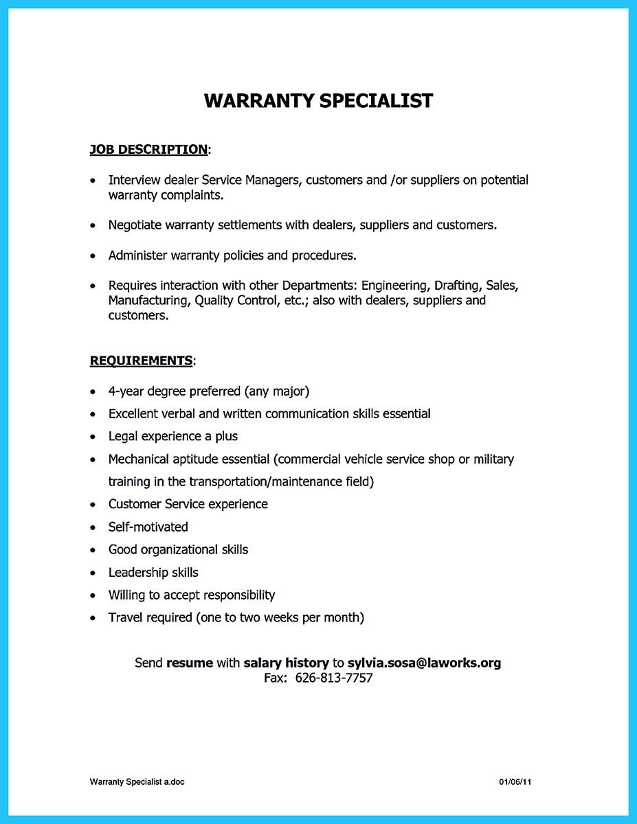 Some People Are Trying To Get The Billing Specialist Job If You Re Also Interested In This Job You Should Make The Best Billing Specialist Resume Billing