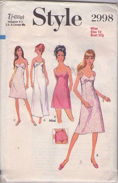 MOMSPatterns Vintage Sewing Patterns - Style 2998 Vintage 70\'s ...