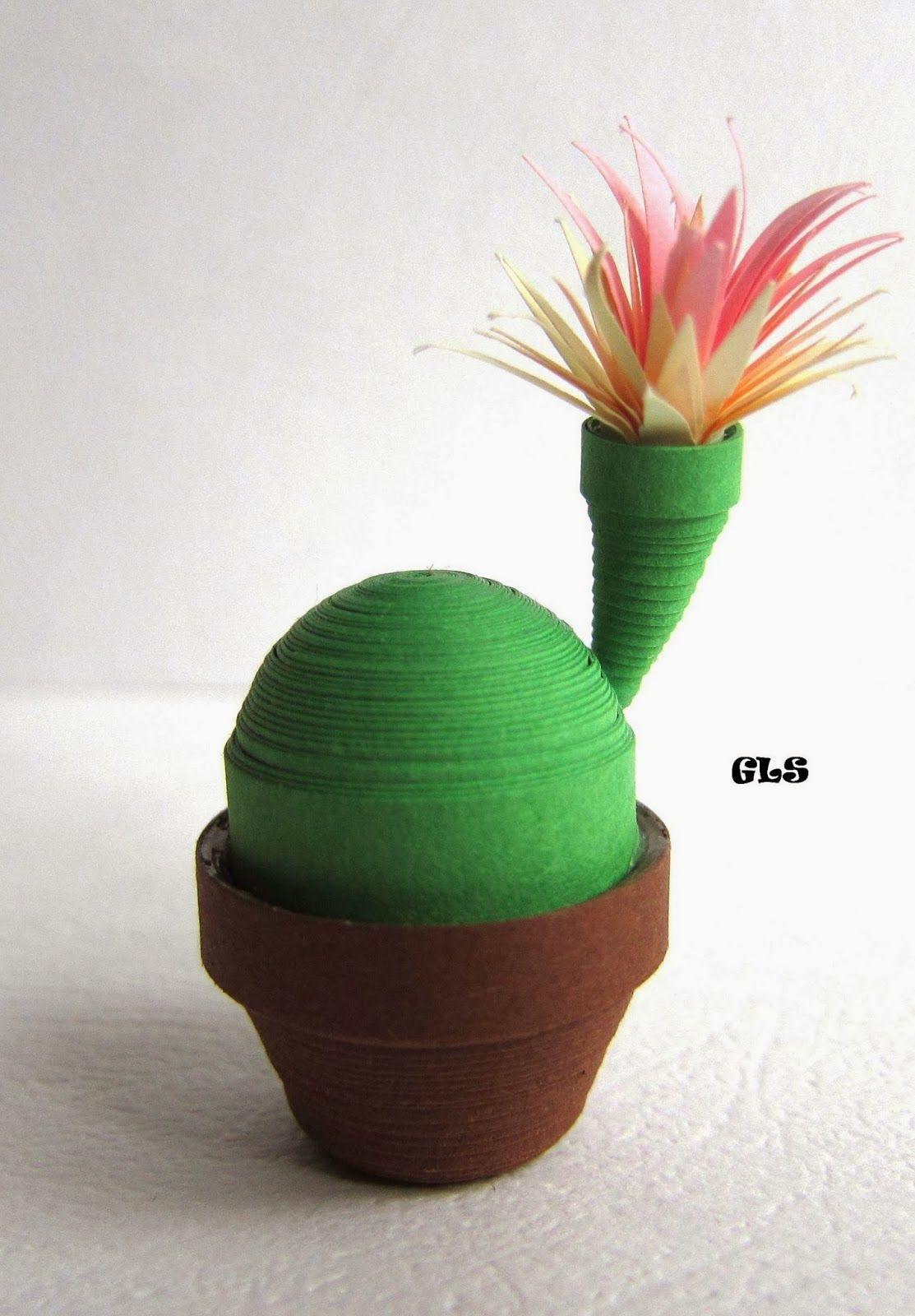 quilled cactus tessy pinterest cactus papier et plantes en papier. Black Bedroom Furniture Sets. Home Design Ideas