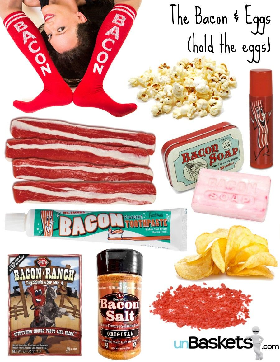 bacon unbasket: unique bacon gift basket   Gifts for Him   Pinterest