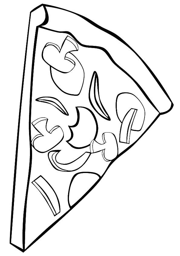 New York Pizza A4 Jpg 595 842 Coloring For Kids Pizza Coloring Page Coloring Pages For Kids