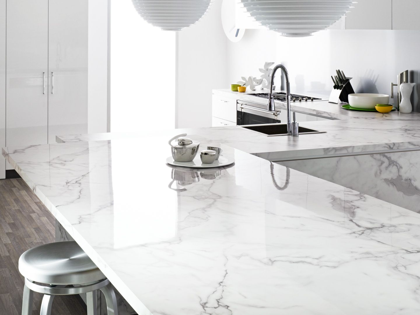 carrara countertops tile bathroom marble countertop cabinetry mimic master porcelain features pin white with shaker floors durable the this style traditional