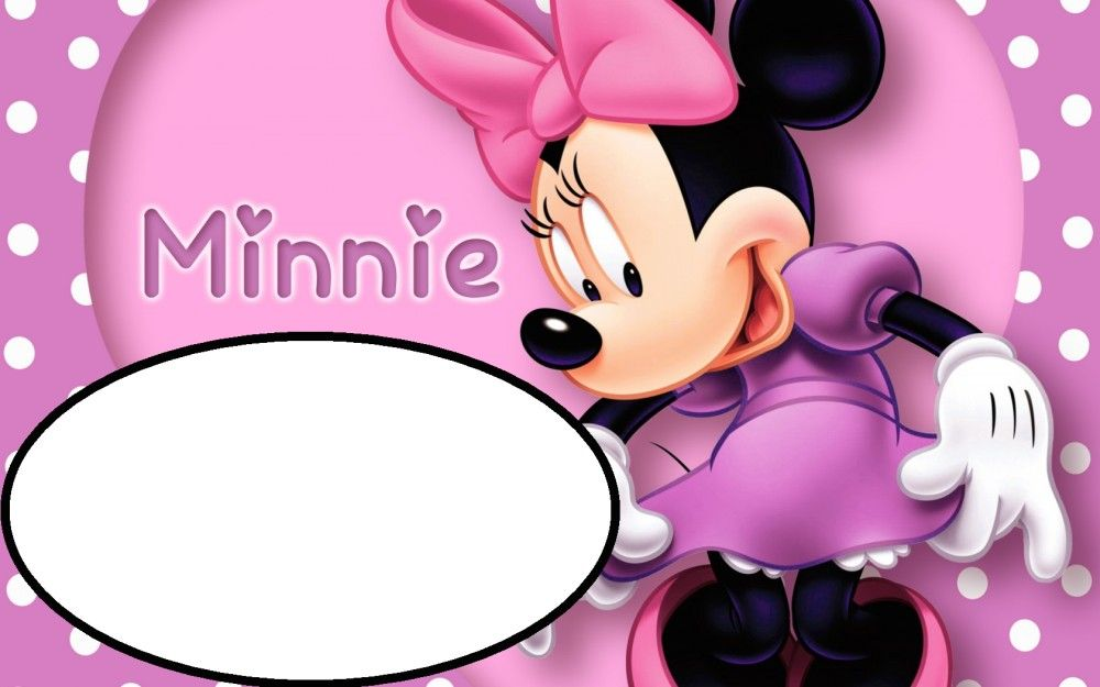 Pink Minnie Mouse Template For Birthday Party Invitations