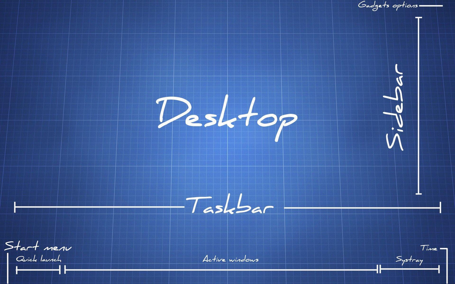 The job, everywhere Desktop wallpaper, Blueprints