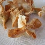 Homemade Crab Rangoon - totally making these when I unpack my dutch oven!