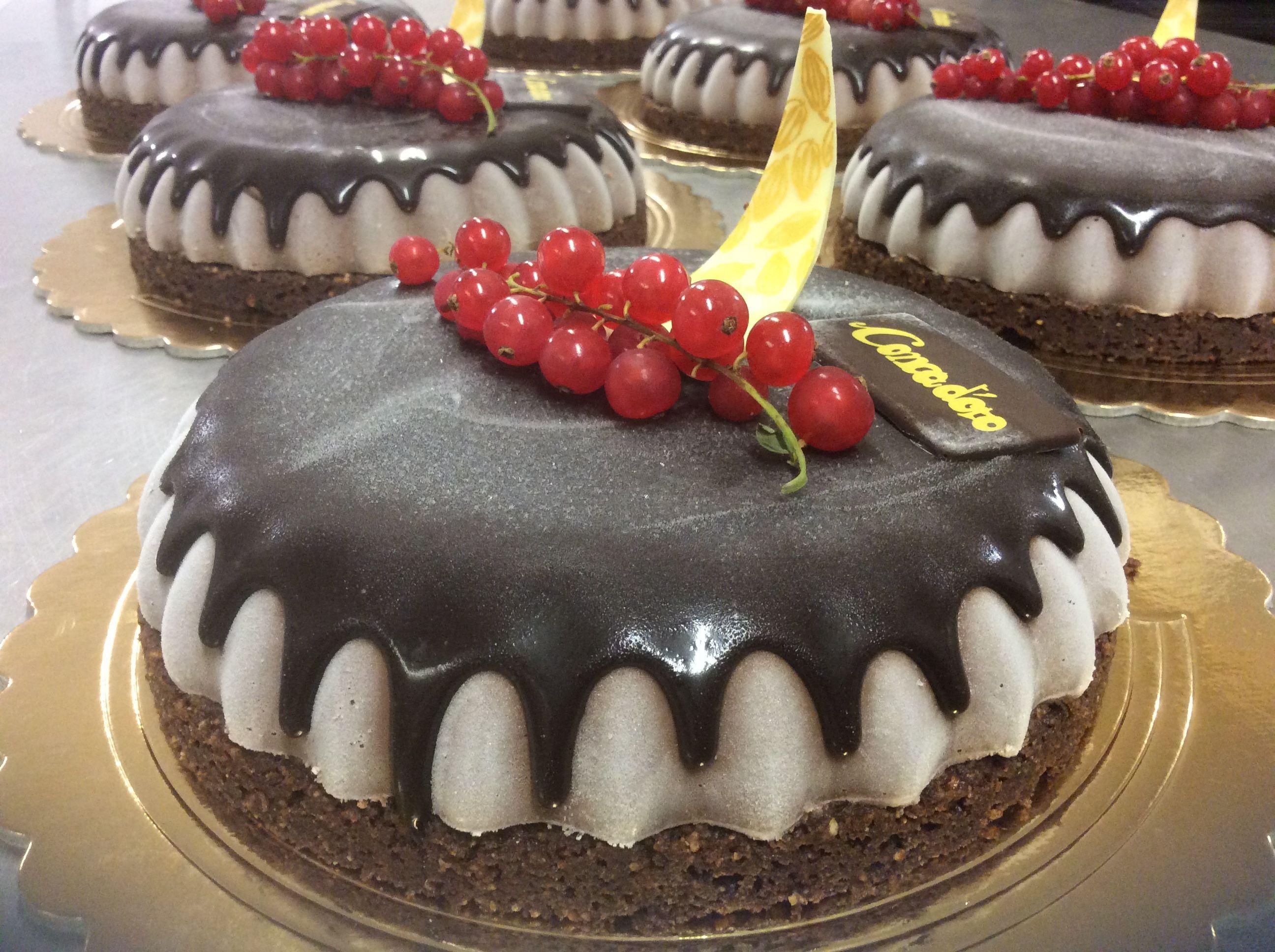 CalaViolina Panna cotta cioccolato 80% CACAO del Mexico, streuzel al CACAO e mandorle