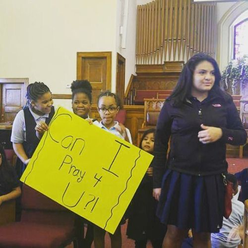 Our scholars made signs for the Education Congress outreach...