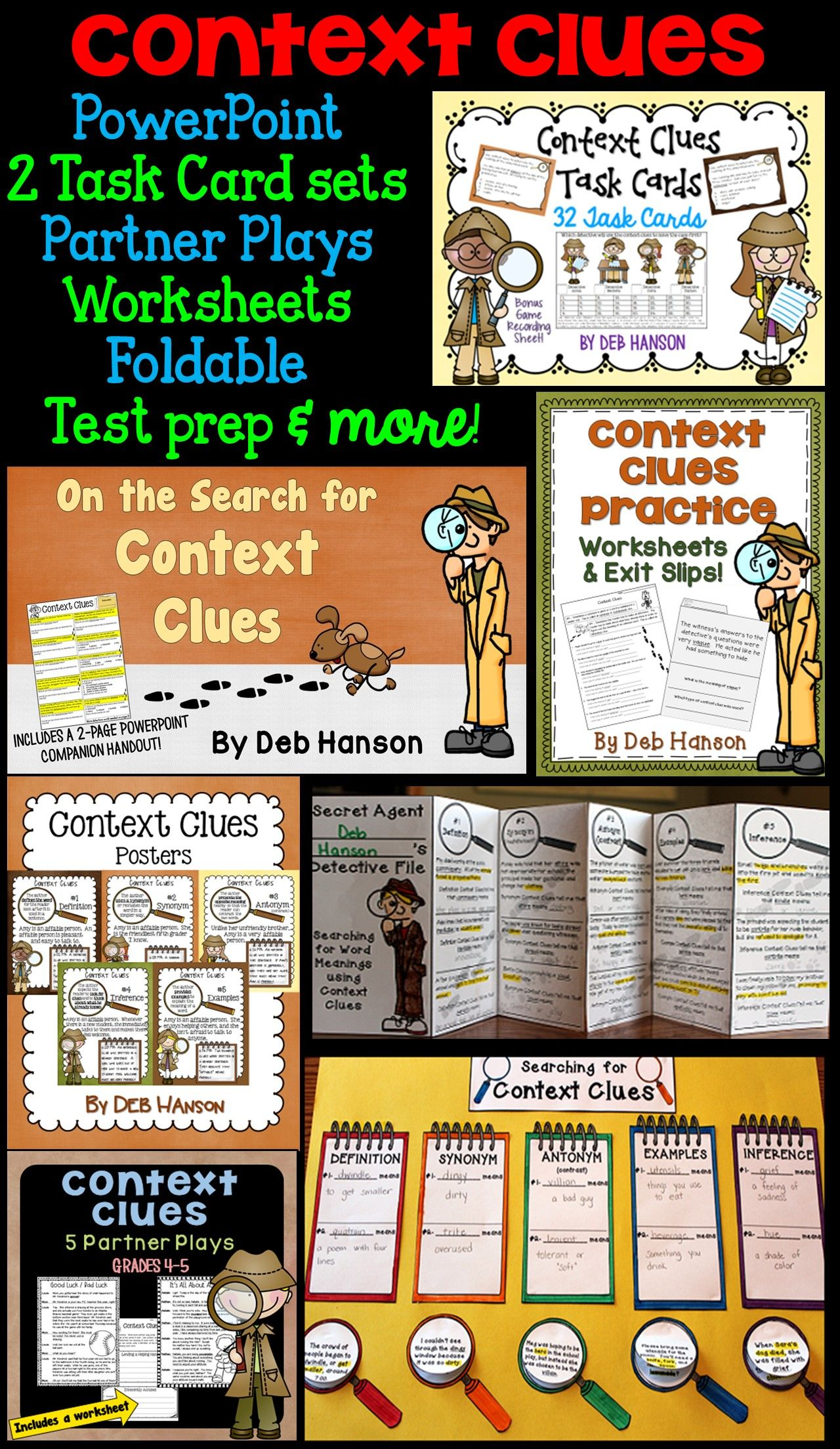 Context Clues Bundle Of Activities 4th 5th And 6th