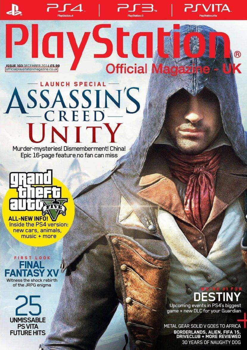 PlayStation UK (Diciembre de 2014 Nº103) Portadas
