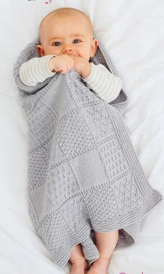 BABY KNITTING PATTERN for stunning baby blanket dk yarn 25 ...