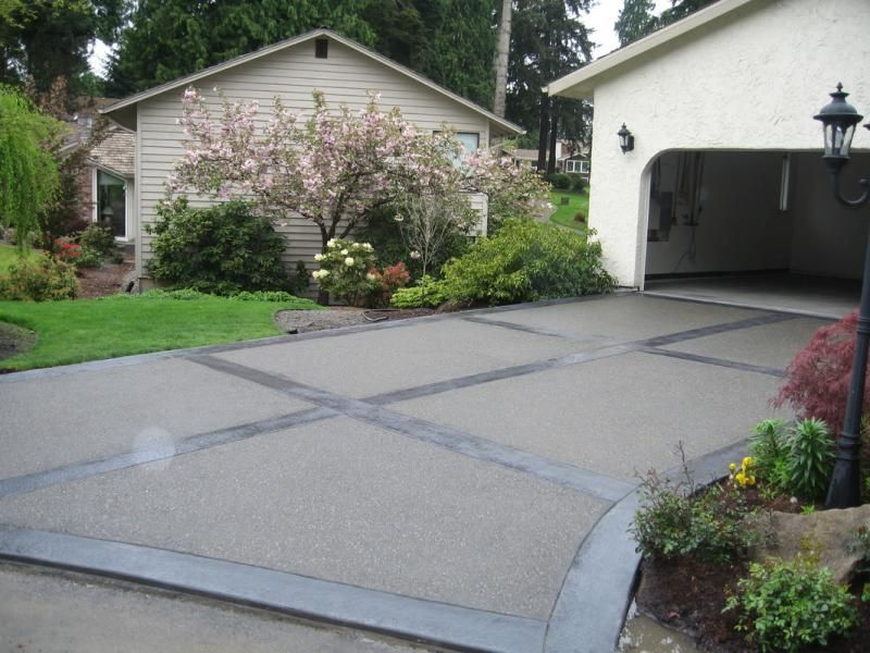 Exposed aggregate driveways patios and walkways an for Concrete driveway designs