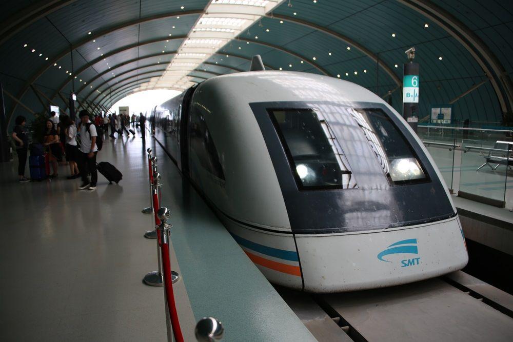 リニアモーターカー 上海浦東国際空港ー竜陽路駅 上海トランスラピッド linear motor car (9)