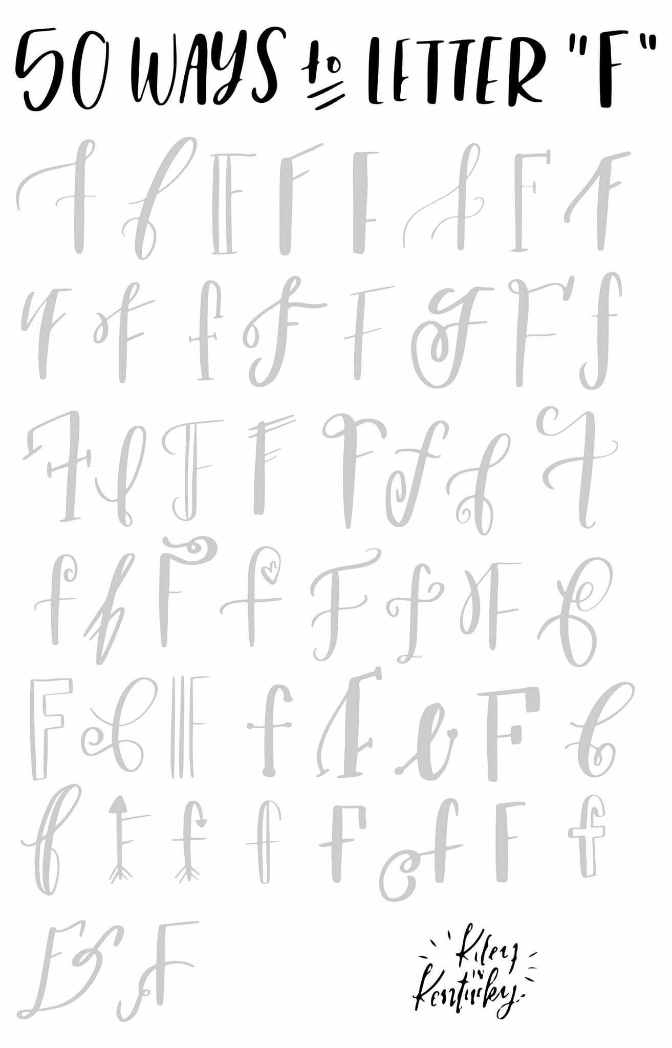 50 Ways To Letter F