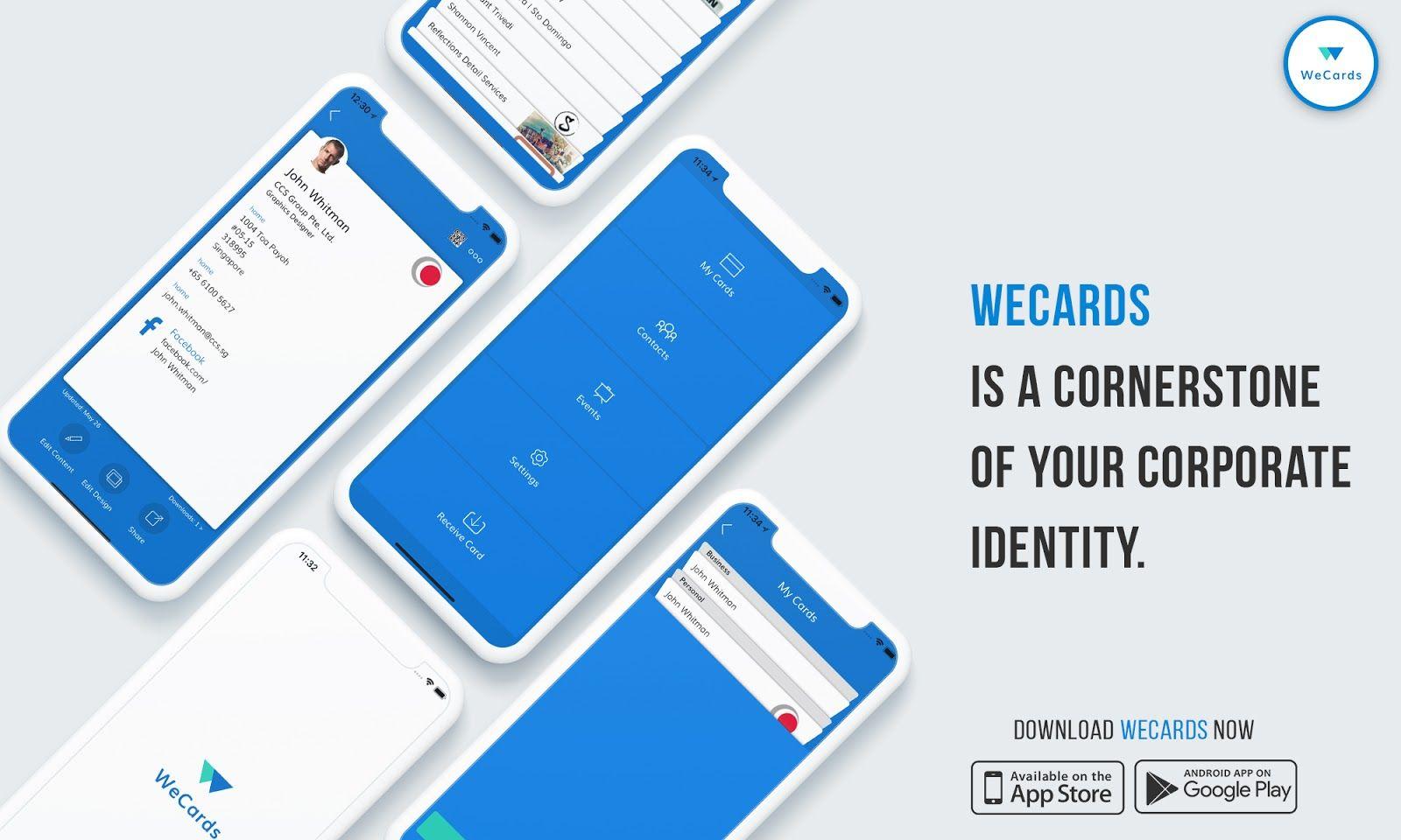 Digital Business Cards Wecards Next Generation Digital Business Card Digital Business Card Business Card App Digital Business