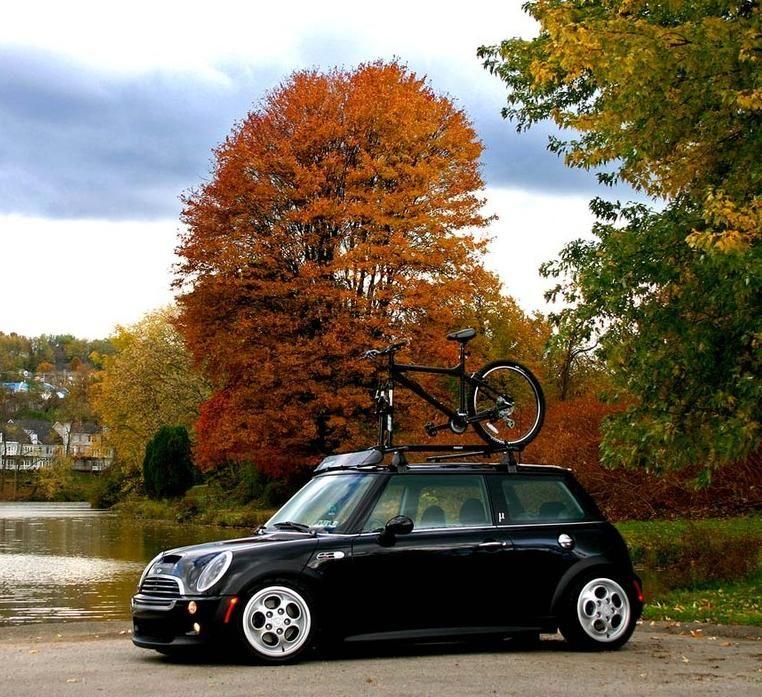Mini Cooper Bike Roof Rack: Mini-stance-roof-rack.jpg (762×697)