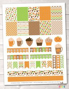 Happy Fall Printable Planner Stickers Weekly Kit – Instant Download PDF for your Erin Condren Life Planner