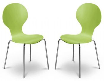 Kimberley Lime Green & Chrome Dining Chairs Sale Now On Your ...