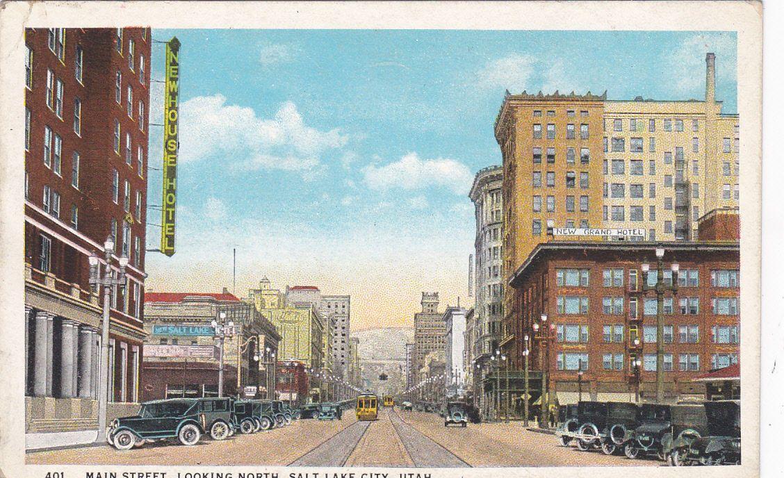 1 of 2 SALT LAKE CITY , Utah, 1910s ; Main Street