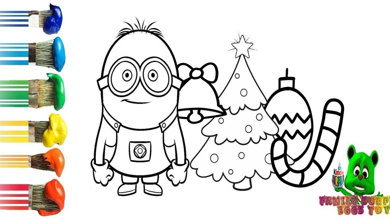 christmas tree and accessories coloring and drawing for