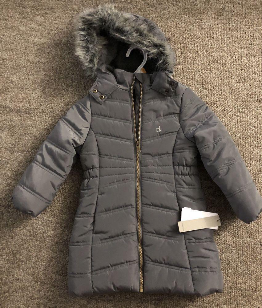8cdcfbb67ab4 NWT Girls Size 3T CALVIN KLEIN Winter Coat  100  fashion  clothing ...