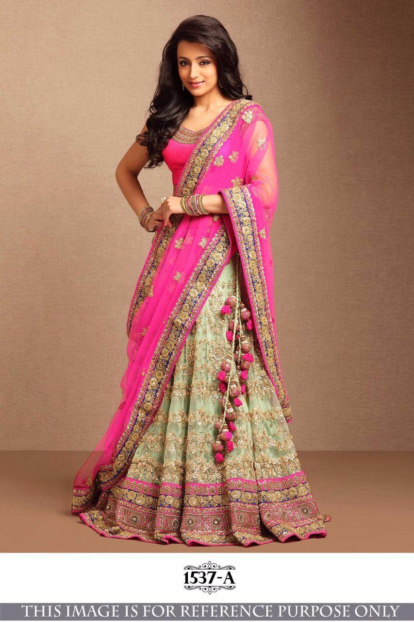 98079c13e5 Buy Bollywood Style Trisha Pink color lehenga in USA, UK and Canada online  shopping from Kollybollyethnics.com