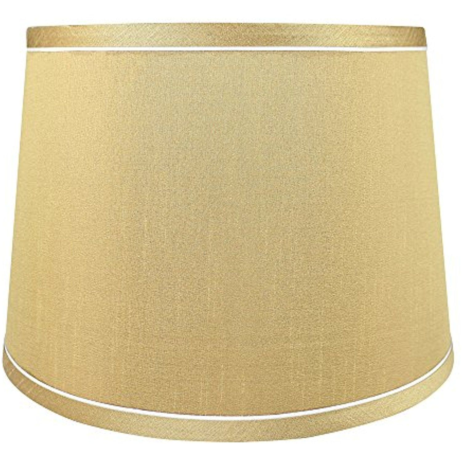 Urbanest French Drum With White Trim 10 Inch By 12 Inch By 8 1 2 Inch Lampshade Gold Silk You Can Find Out Mo White Trim Lighting Ceiling Fans 10 Things