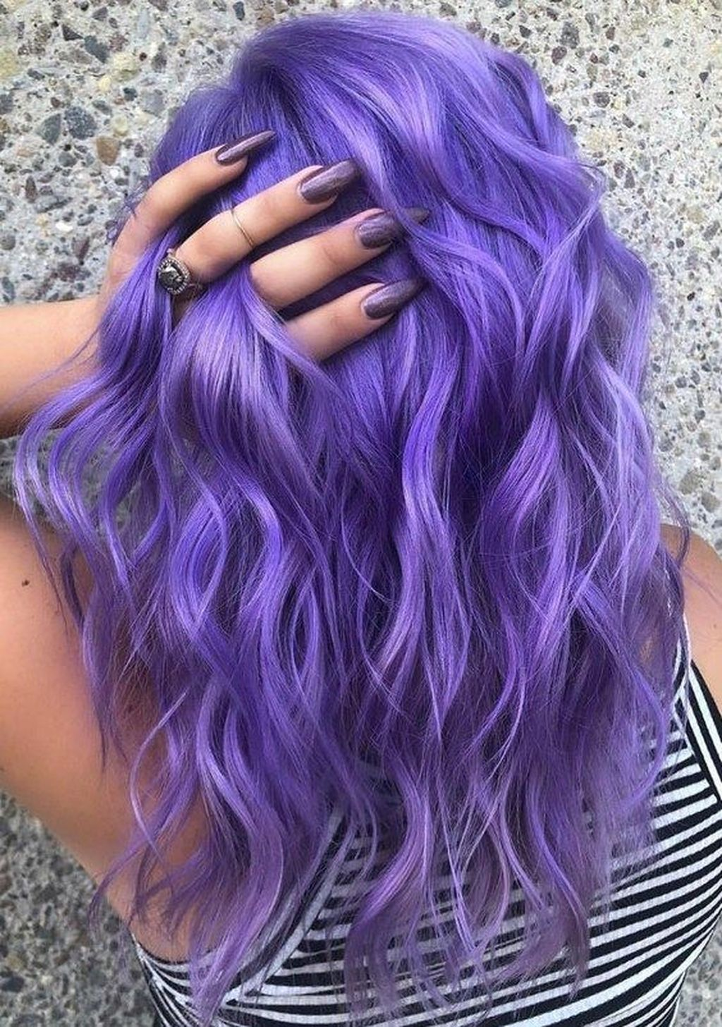 Awesome 30 Cool Hair Color Ideas Lavender Hair Colors Hair Color Purple Hair Styles
