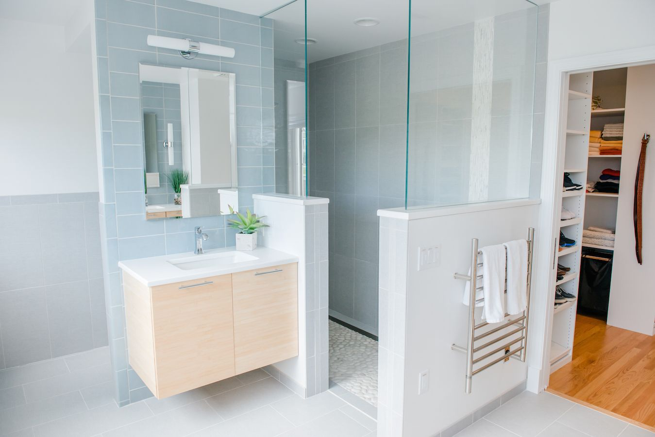 Master-bath-focal-wall-blue-tile-accent-wall-floor-to-ceiling ...