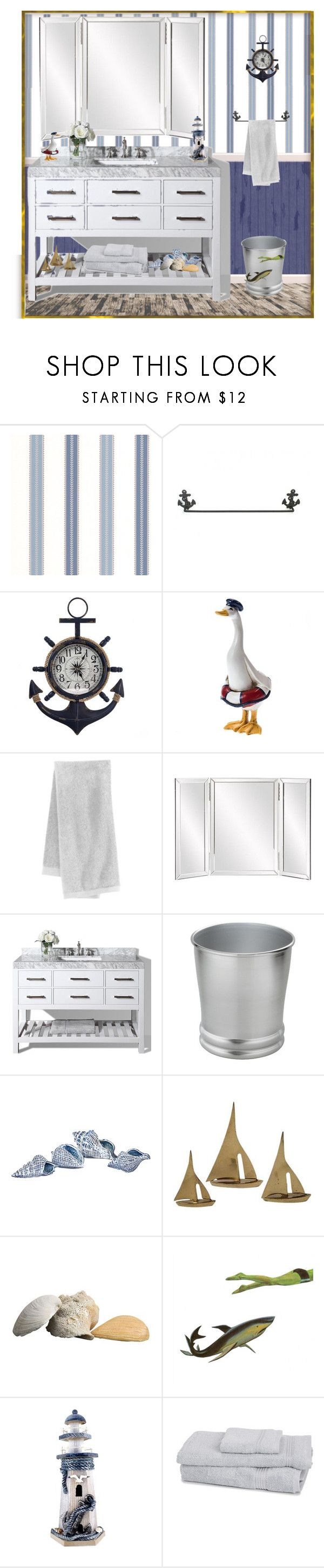 Threshold home decor shop for threshold home decor on polyvore -  Nautical Style Bathroom By Mindy 2 1 Liked On Polyvore Featuring
