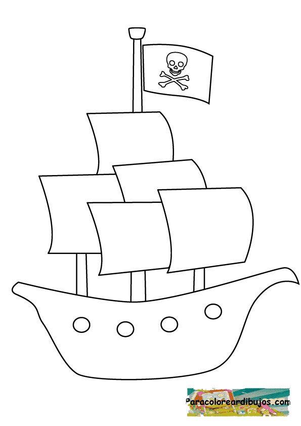 barcopirataparacolorear.jpg (595×842) | Fiesta de Piratas ...