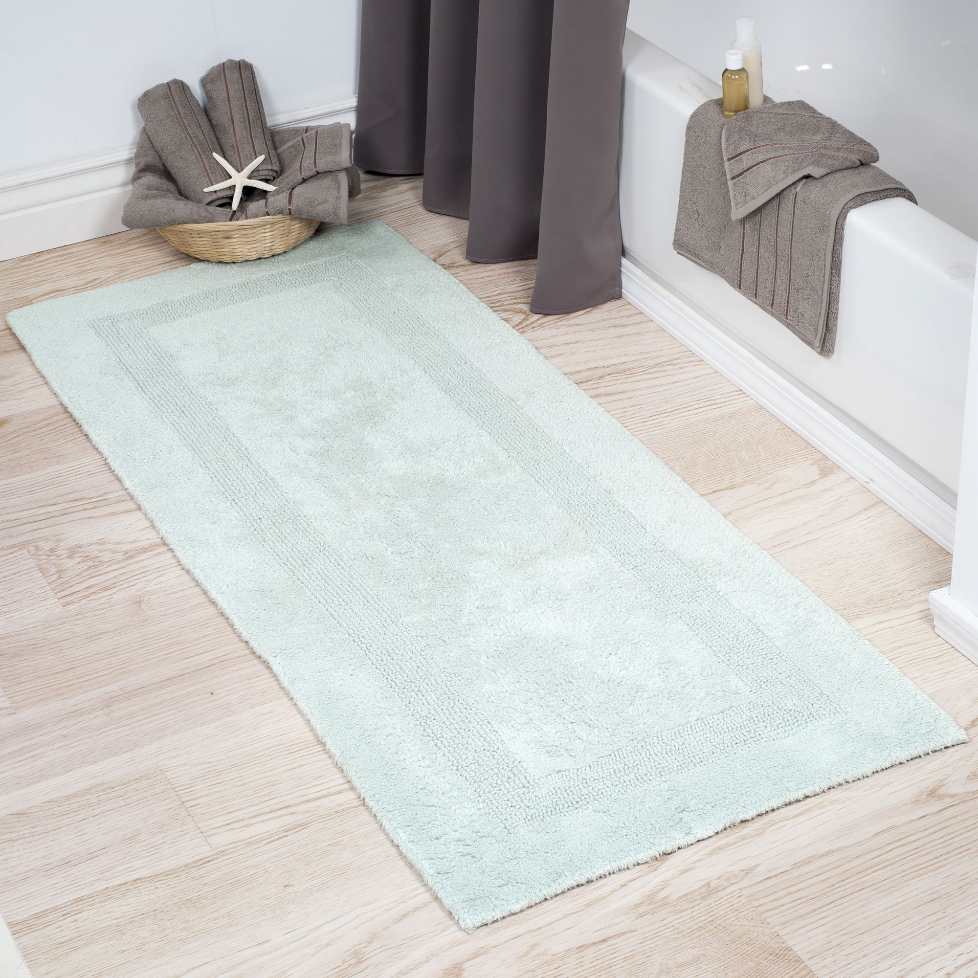 Somerset Home 100 Cotton Reversible Long Bath Rug Seafoam 24x60 Walmart Com Bath Runner Rugs Extra Long Bath Rug Long Bath Rugs [ 2000 x 2000 Pixel ]