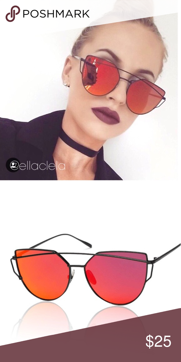 e2a6748fb4 Red Mirror Cateye Women Sunglasses You always see this on Instagram and  Blogs. Brand new