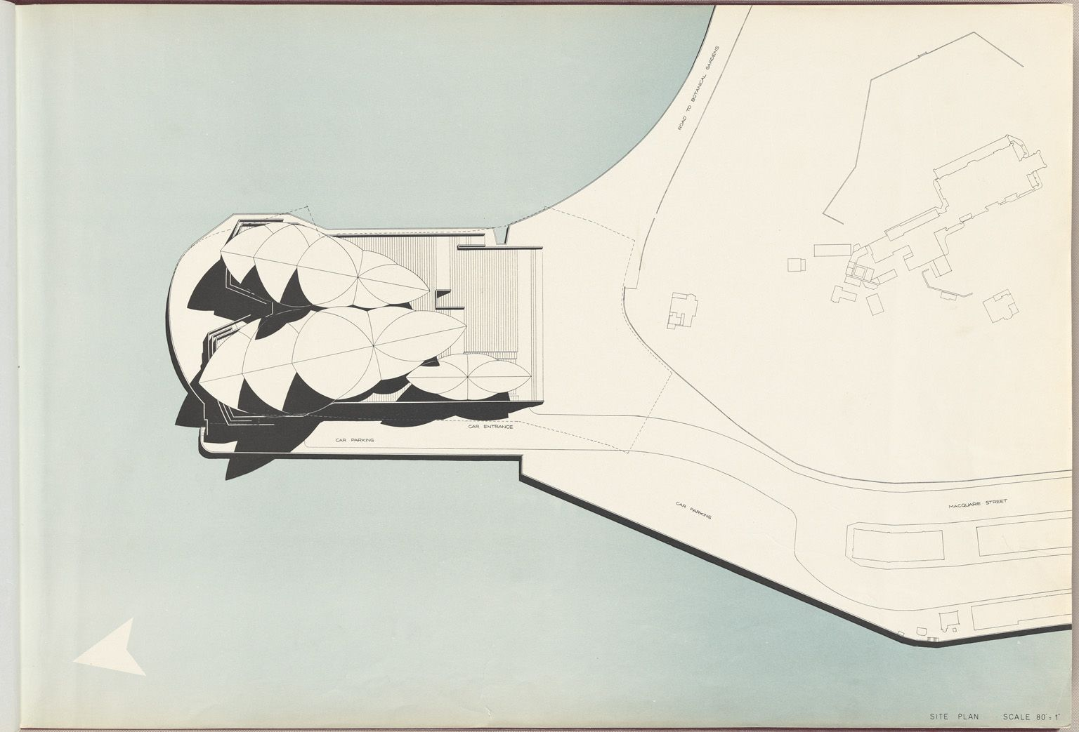 Site Plan Sydney Opera House From The Red Book A 1958 Report