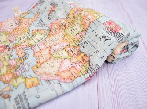Travel theme blanket welcome to the world world map baby blanket travel theme blanket world map baby blanket by hagarsewingshop gumiabroncs Image collections
