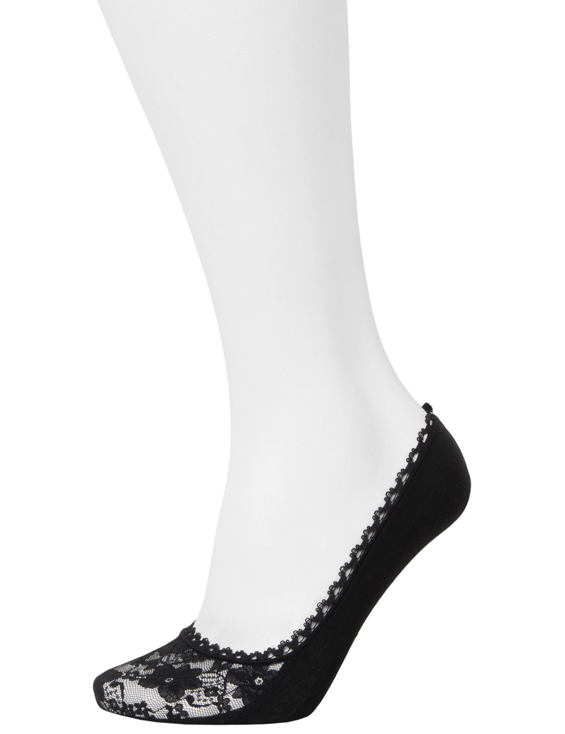 Lace & solid foot liners 2 pack | Plus size tights, Lane