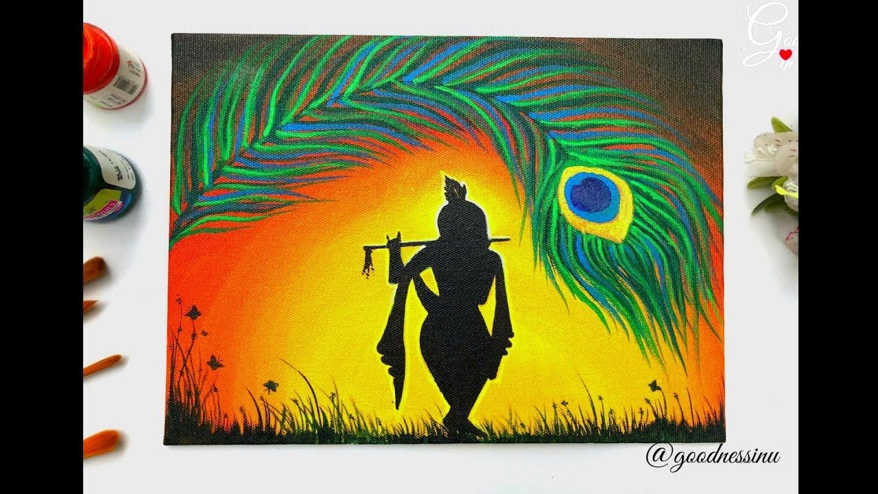 Janmashtami Special Krishna Painting Step By Step For Beginners Youtube Krishna Painting Indian Art Paintings Oil Pastel Drawings