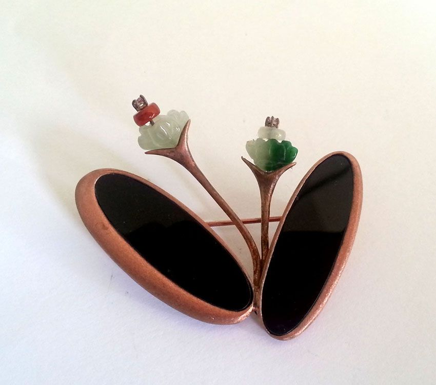 #brooch #handmade brooch #design by darlring jewelry #flower brooch #gift for women