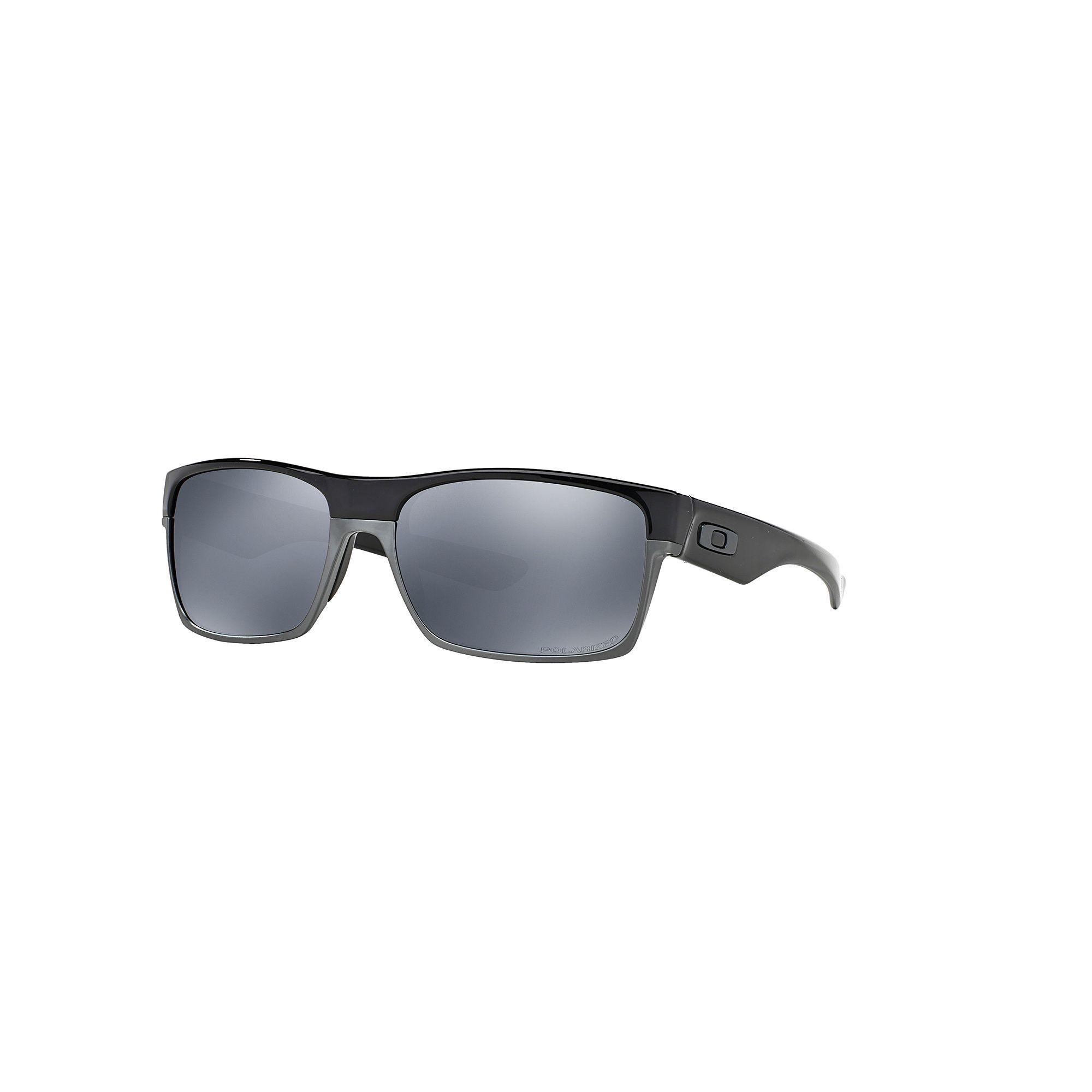 2de5df5e115f6 Oakley Twoface OO9189 60mm Rectangle Black Iridium Polarized Sunglasses,  Men s