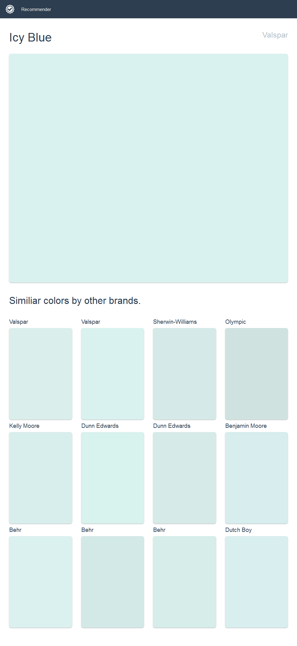 Icy Blue Valspar Paint Colors Sherwin Williams Paint Colors Dunn Edwards Paint