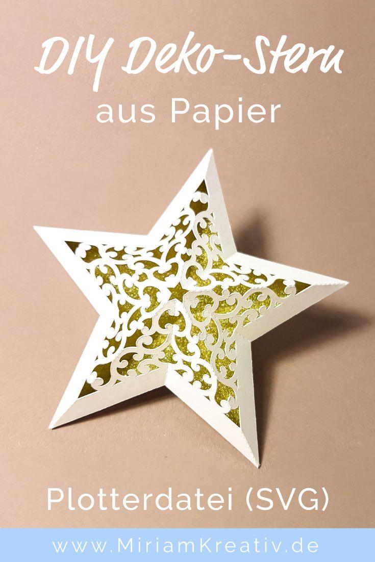 Schnörkel-Stern (klein) - MiriamKreativ.de