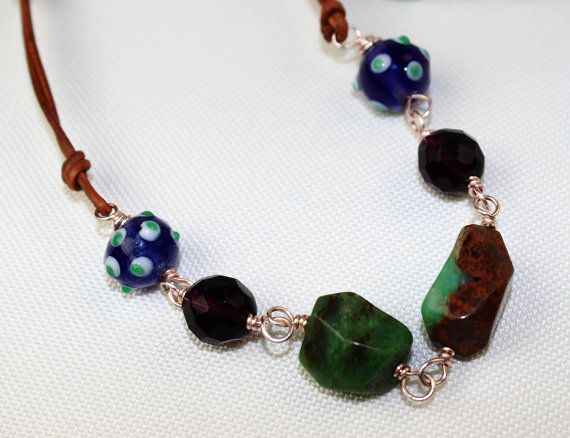 Hey, I found this really awesome Etsy listing at https://www.etsy.com/listing/200835101/blue-and-green-gemstone-necklace-wire