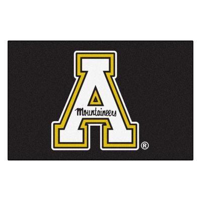 FANMATS NCAA Appalachian State Black 2 ft. x 3 ft. Area