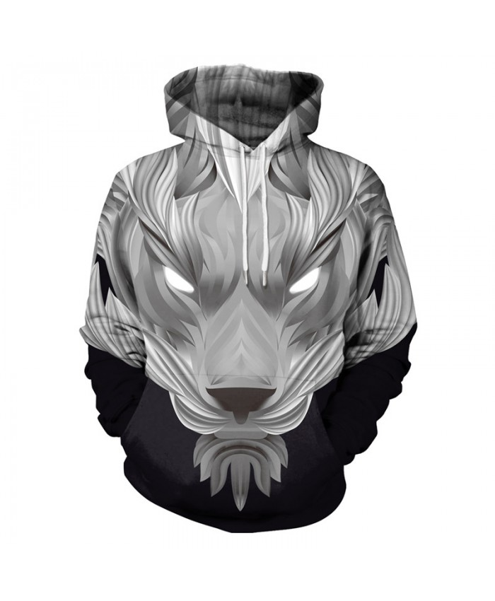 Lovely Lion Stylish 3D-Printed Mens Pullover Hoodie Casual Hooded Long-Sleeved Sweatshirt with Pockets