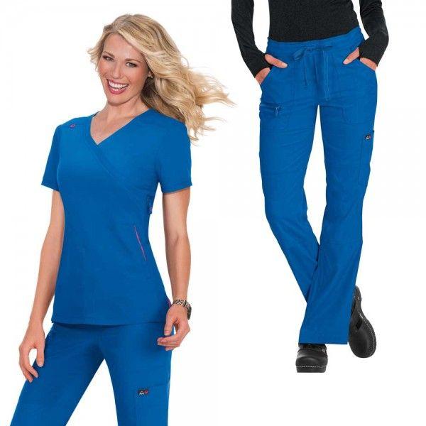 f46697a3456 £59.99 #setscrubs #scrubs #uniforms #nursescrub #bluescrubs #medicalscrubs.  Koi Lite Philosophy Set in Royal Blue ...