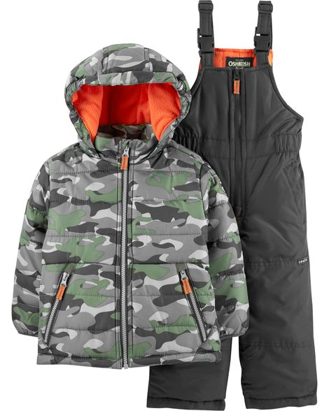 OshKosh BGosh Baby-Boys Ski Jacket and Snowbib Snowsuit Set Snowsuit